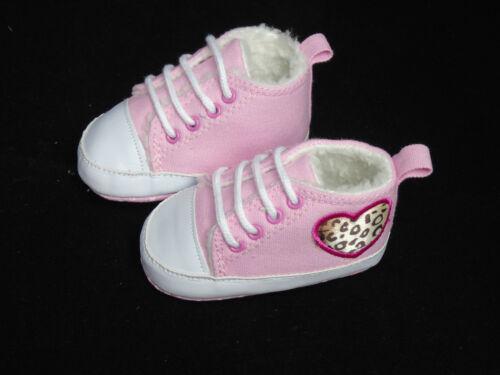 Babyschuhe Schuhe Baby Winterschuhe Turnschuhe gefüttert Leopard Zebra rosa pink