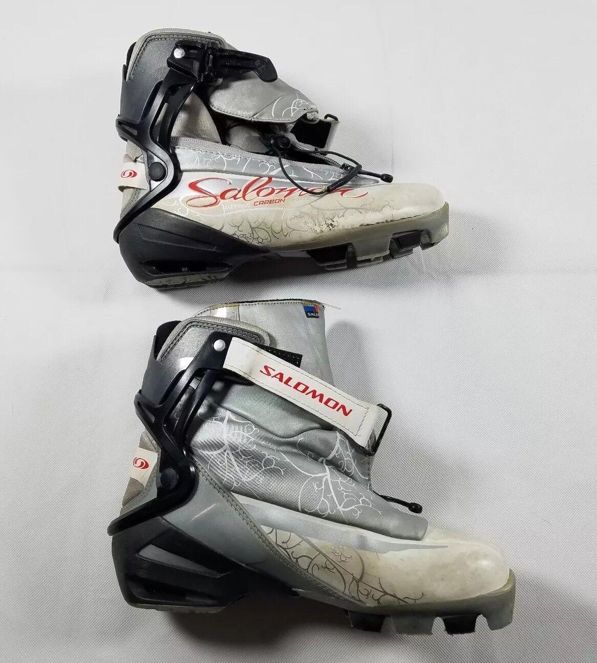 Salomon Womens Vitane Carbon S  Cross  Country Ski Boots Size 6  free shipping worldwide