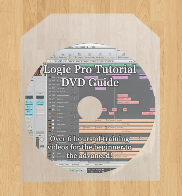 Learn how to use Logic Pro 9 DVD Tutorial guide lessons 6 hours of training!