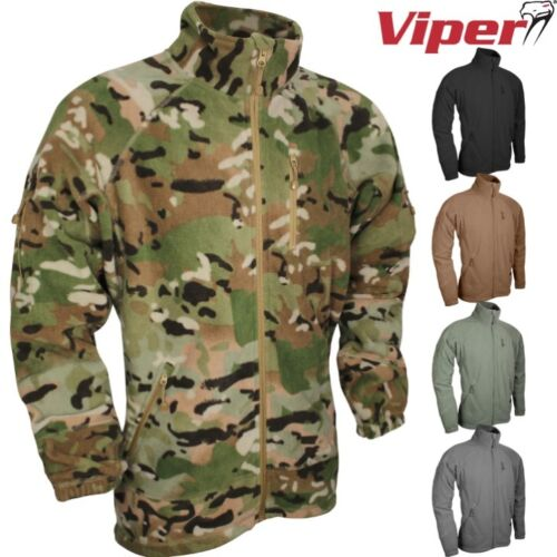 VIPER TACTICAL SPEC OPS FLEECE JACKET MENS S-3XL ZIPPED TOP ARMY MTP CAMOUFLAGE