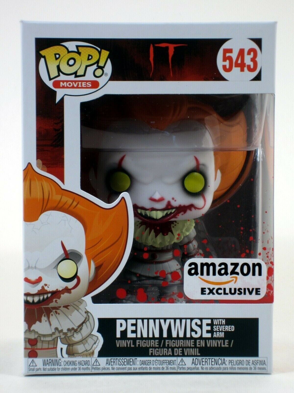Pennywise With Severed Arm Funko Pop Vinyl New in Box