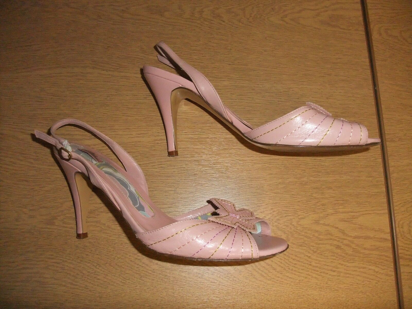 Ladies Sandals Ted Ted Ted Baker powder pink Selena UK 6 EU 39, slingback, used 3386 5da9b4