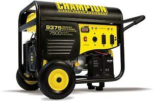 Champion 9,375-W Portable RV Ready Gas Powered Generator w/ Remote Start Home RV