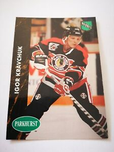 Parkhurst carte card 1992 hockey NHL NM+/M Chicago Blackhawks #257 Igor Kravchuk