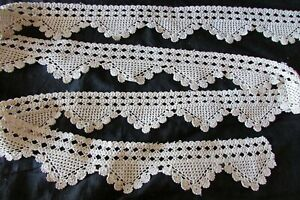 Pretty-Antique-French-Handcrafted-Cotton-Crochet-Lace-Scolloped-Trim-c1920-16FT