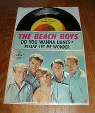 "BEACH BOYS Orig 1965 ""Do You Wanna Dance"" 45 & picture sleeve VG++"