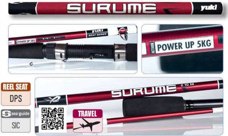 Yuki Surume Boat Series 3 Piece Fishing Rod - Ideal Travel Boat Rod