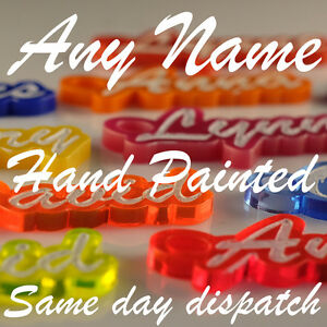 PAINTED Personalised KEYRING KEYCHAIN NOVELTY TEACHER GIFT SAME DAY DISPATCH
