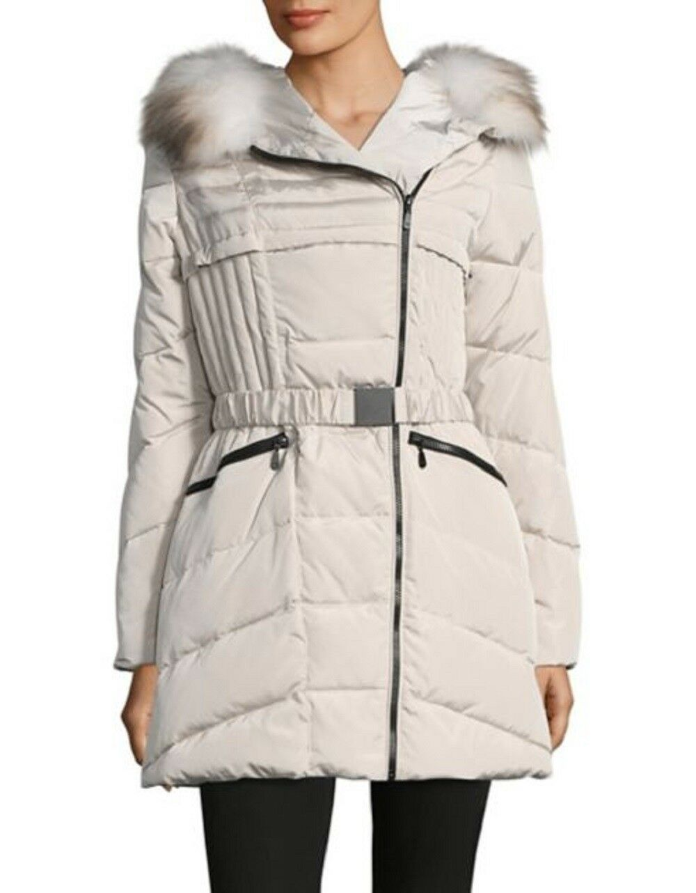 1 Madison Women's Down Coat With Real Fox Fur
