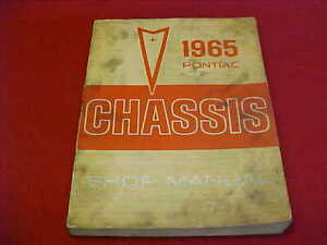 1965 ORIGINAL PONTIAC SERVICE SHOP REPAIR MANUAL 65 ...