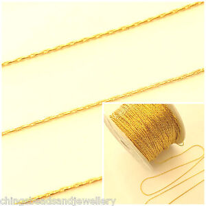 2M Silver Plated Curb Chain 4x6mm Continuous Chain For Jewellery Making