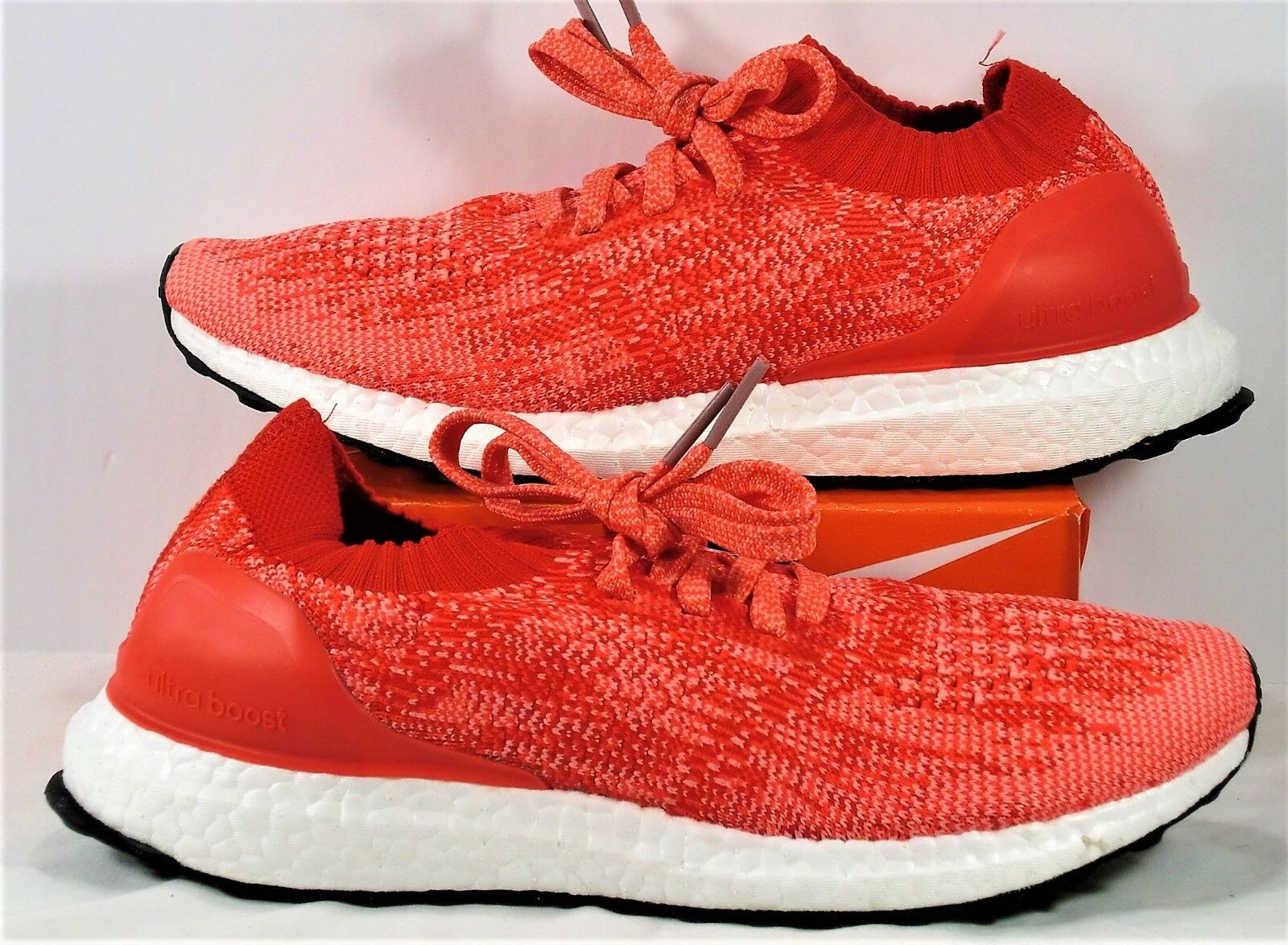 Adidas Ultra Boost Uncaged Ray Red & Shock Pink Running Shoes Sz 6.5Y NEW BA8296