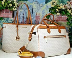 1d74219fd70b Image is loading NWT-MICHAEL-KORS-TRAVEL-Weekender-amp-Matching-TOTE-