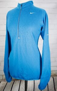 3251a300ca57 NIKE RUNNING Element Thermal Half Zip Fitness Jacket Womens M Blue ...
