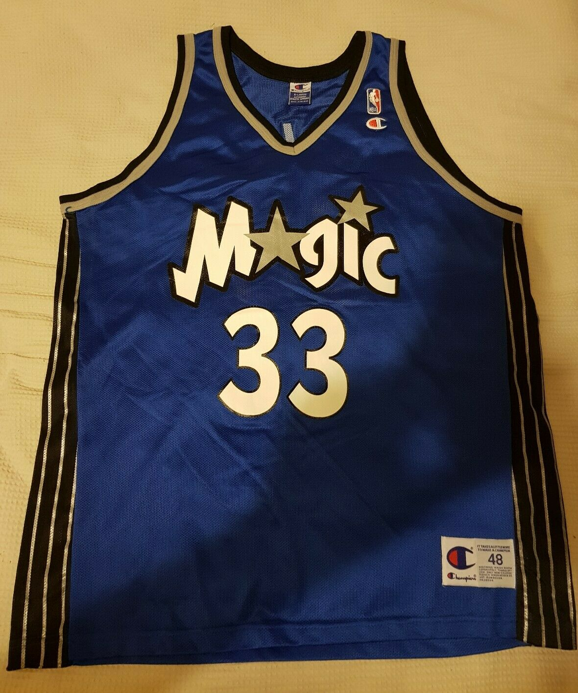 BNWOT Champion Orlando Magic Hill NBA jersey 2000 01 48 XL Outlaw Armstrong