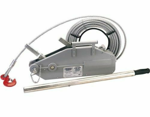 Draper Expert 2400kg Turfer Puller Winch 20 meter 0f 11mm Wire Rope Cable 71208