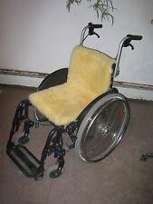Lammfell Rollstuhl Auflage  ,40x85cm Dekubitusschutz,waschbar Gerberei Oechslen