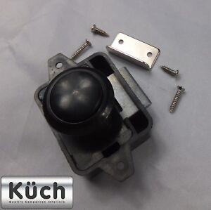 Details about 10 x Push Button Catch Lock BLACK ROUND Drawer Cupboard Door  Cabinet campervan