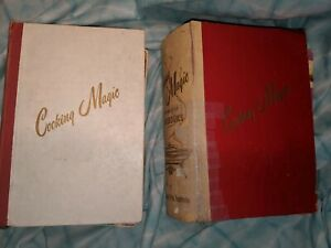 2-Vintage-Culinary-Arts-Institute-Cooking-Magic-Binders-with-22-Cookbooks