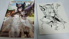Granblue Fantasy Beatrix Valentine Card and Shikishi Limited Japan Authentic