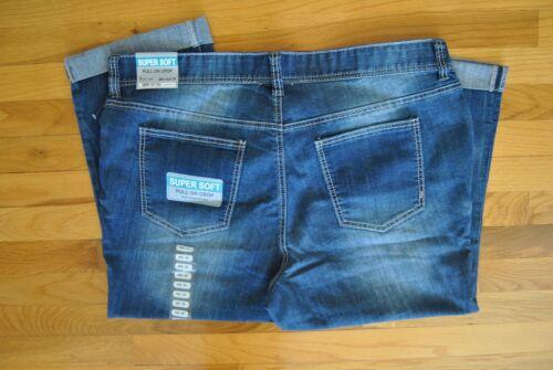 NWT Womens ARIYA Jeans Vintage Wash Pull On Crop Super Soft Denim Capri M 8-10