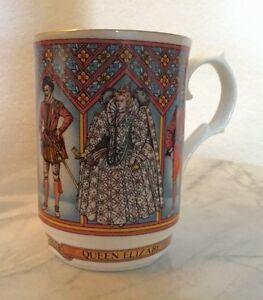 Vintage Elizabeth I Queen Of England Fine Bone China Mug England Made By Sadler