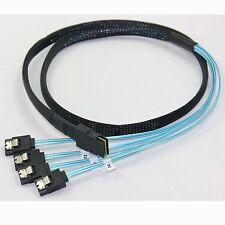 MINI SAS 4i SFF-8087 36P To 4 SATA 7P cable,12Gbps,1m US Selling