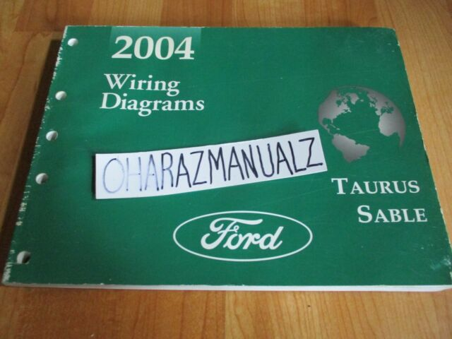 2004 Ford Taurus Mercury Sable Wiring Diagrams Manual Oem