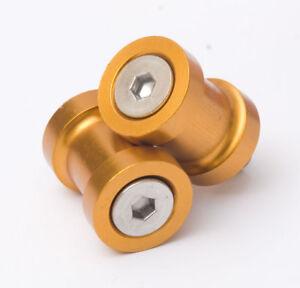 R-amp-G-Racing-Anodised-Aluminium-M8-Paddock-Stand-Bobbins-in-Gold