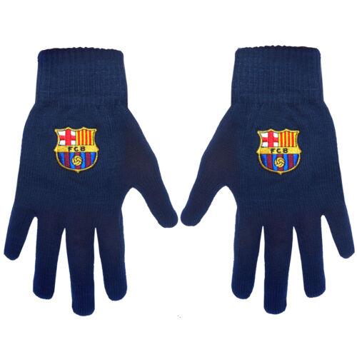 FC Barcelona Officiel Cadeau Adultes Tricoté Gants Bleu Marine