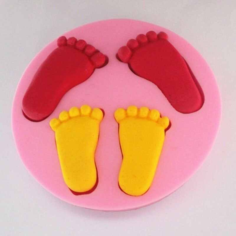 Silikon Geburt Baby Füße Form Kuchen Fondantform Schokoladenform ZXZJ