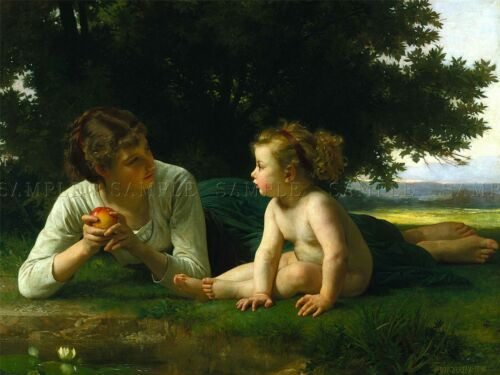 WILLIAM ADOLPHE BOUGUEREAU TEMPTATION OLD MASTER ART PAINTING PRINT 3141OMLV