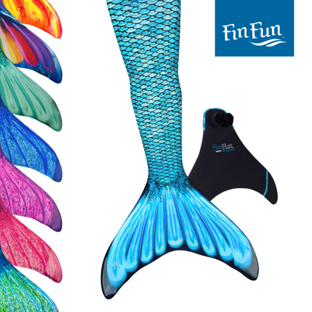 Complete Mermaid Tail WITH Monofin US Fun Mermaid Swimmable Tails Fin $47
