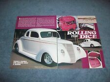"""1937 Ford Coupe Vintage Pro Street Article """"Rolling the Dice"""""""