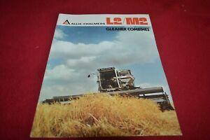 Allis Chalmers L2 M2 Gleaner Combine Dealer Brochure YABE20
