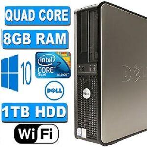 Rapido-Dell-Quad-Core-PC-Torre-escritorio-Windows-10-Wifi-8GB-Ram-1000GB-HDD