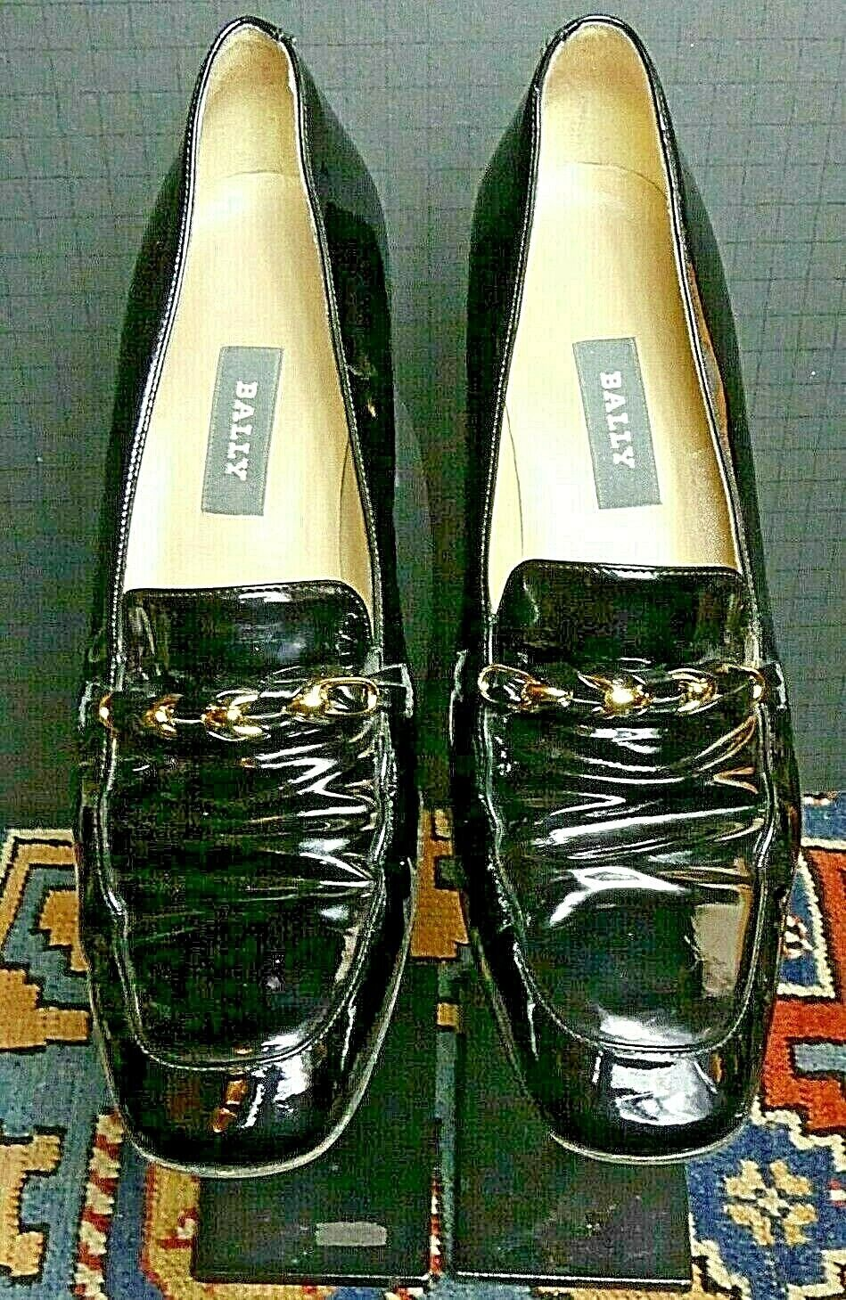 memorizzare BALLY  DENRICA  Switzerland Classic nero Patent Leather Pumps Pumps Pumps Sz. 9.5M MINT   più economico
