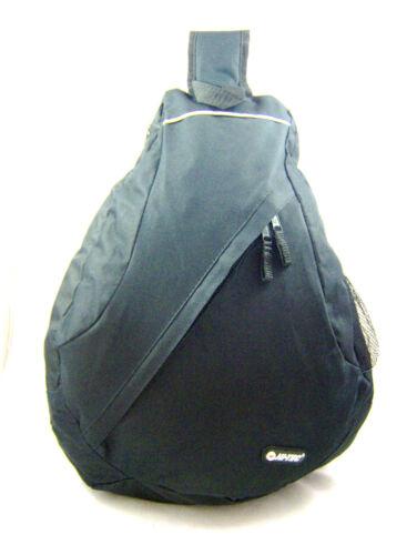 Noir Urban Unisexe traverser corps sac monostrap un bras sac à dos sac à dos