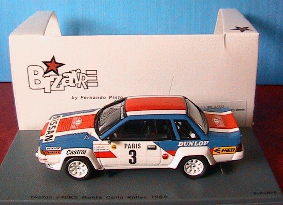 NISSAN 240 RS RALLYE MONTE CARLO 1984 SALONEN HARJANNE BIZARRE SPARK 1 43