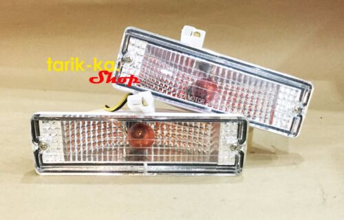 Details about  /Front Bumper Lights Turn Signal Crystal For 86-97 Nissan D21 BDI 925 993 Pickup