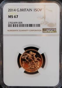 2014 Gold Sovereign Great Britain MS67 NGC