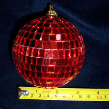 """3"""" RED DISCO BALL glass mirror party favor car hanging"""