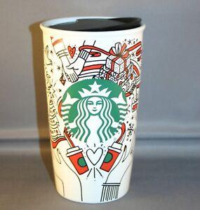 6037d2f0184 2017 starbucks christmas to go cup 12 oz. ceramic tumbler NWT | eBay