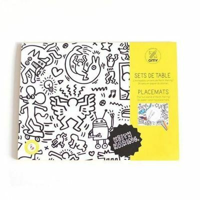 24 Kids Colouring Placemats By Keith Haring