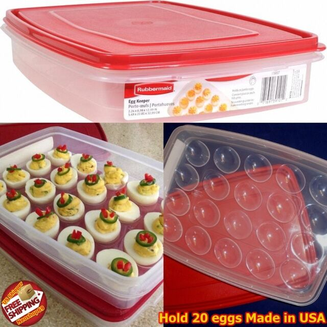 Rubbermaid Deviled Egg Keeper Tray Container Carrier Food Storage