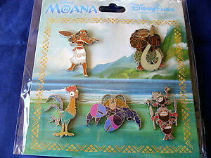 Details about Disney * MOANA * NEW 5 Pin Movie Characters Booster Set -  Maui HeiHei