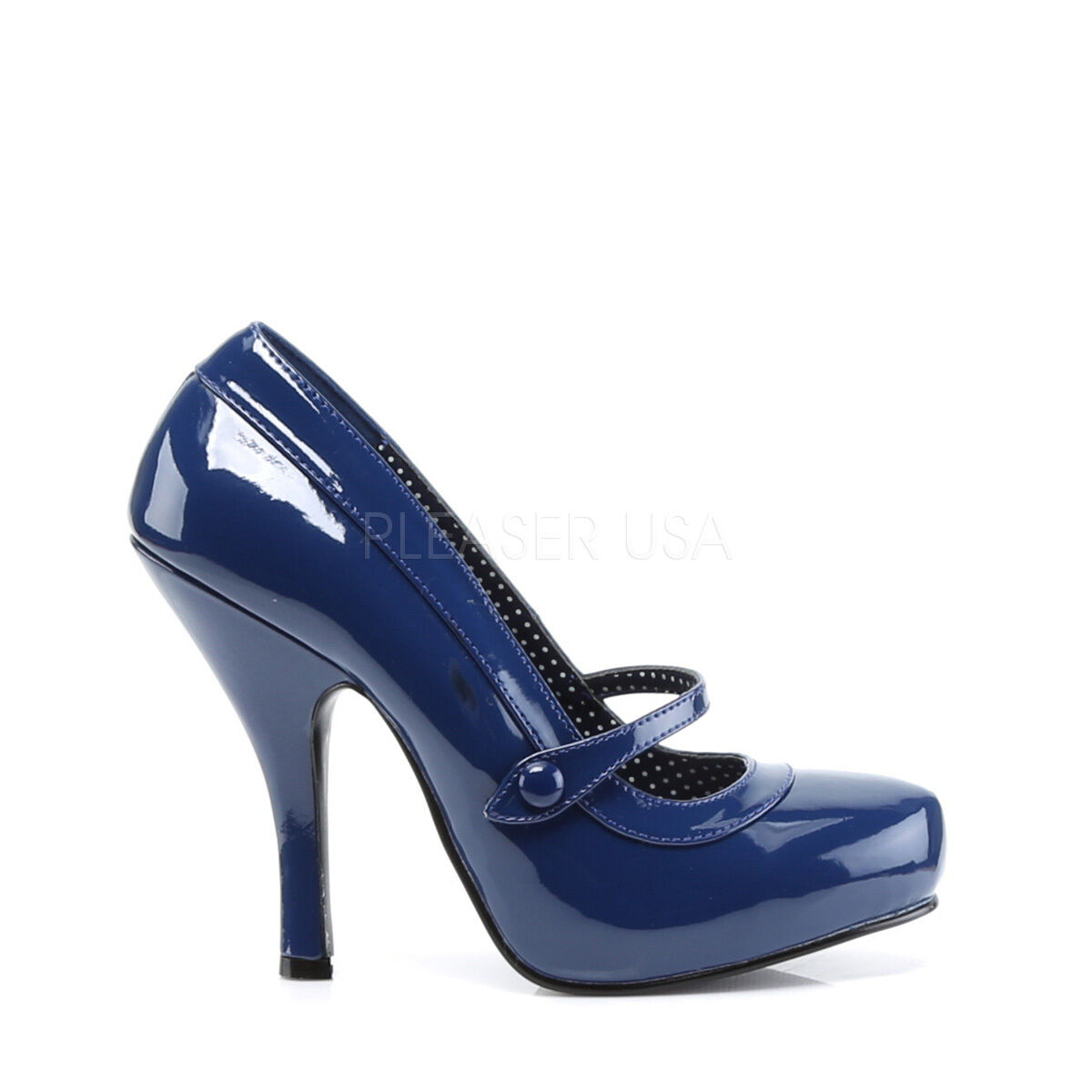 PINUP CUTIE02 NBPT Retro Retro Retro Vintage Style Navy bluee Mary Janes High Heels shoes 47bab4