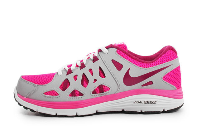 Nike Dual Fusion Run 2 (Gs) rose/ Gris femmes Trainers Chaussures UK- 3_3.5_4_5