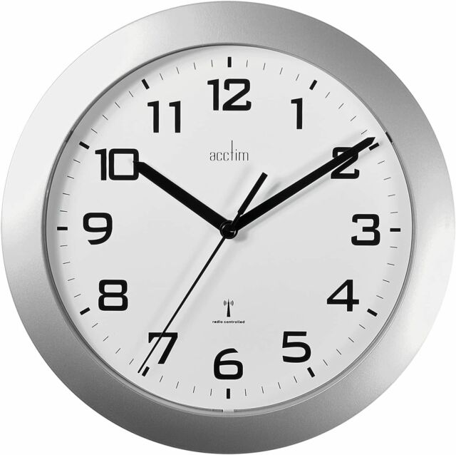 Acctim 77077 Middleton Radio Controlled Mantel Clock Silver For Sale Ebay