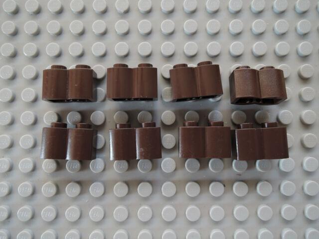 Lego 10 x Stein Lamelle Palisadenstein 30136   neu hellgrau 1x2